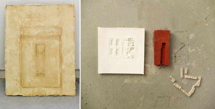 Αποτυπώματα ξεπερασμένων εργαλείων και αντικειμένων μετατρέπονται σε καταχωρήσεις ενός ημερολογίου της προσωπικής και συλλογικής πορείας, που συνδιαλέγεται με τα μέσα αναπαράστασης της αρχιτεκτονικής. Ένα παιχνίδι κλίμακας ανάμεσα στην αποτυπωμένη δομή των αντικείμενων και την αρχιτεκτονική απεικόνιση του αρχαιολογικού χώρου συνδέει τα ίχνη των θραυσμάτων-εργαλείων με τα αυτά των αρχαίων αρχιτεκτονημάτων και επανεξετάζει τη σχέση ανάμεσα παλιό και το νέο. (Συμμετοχή σε ομαδική έκθεση )
