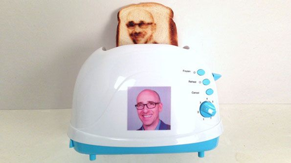 Burnt Impressions is selling this toaster that toasts selfies onto bread. For just $75 you can have a very vague depiction of your face on a piece of toast