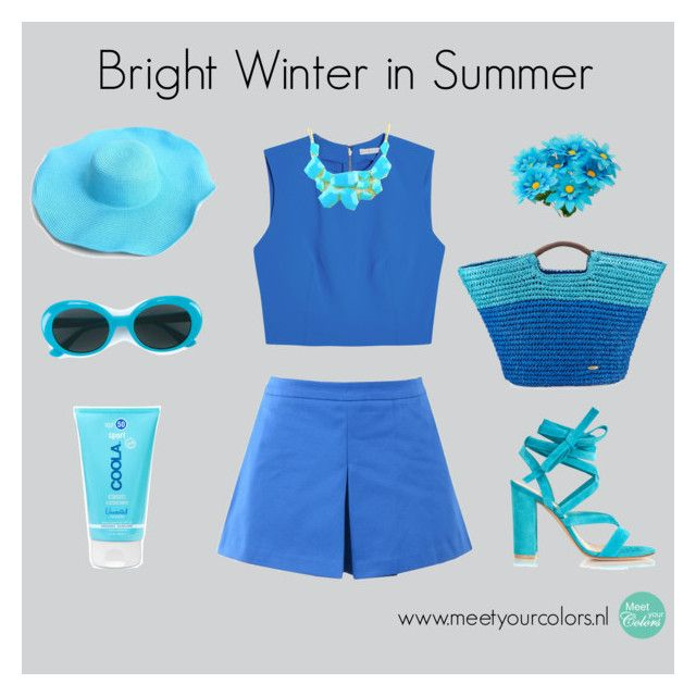"""""""Heldere Winter / Bright Winter"""" by meetyourcolors on Polyvore featuring mode, Love Moschino, COOLA Suncare, Alice + Olivia, Gianvito Rossi, Yves Saint Laurent, Emi Jewellery en Cappelli"""