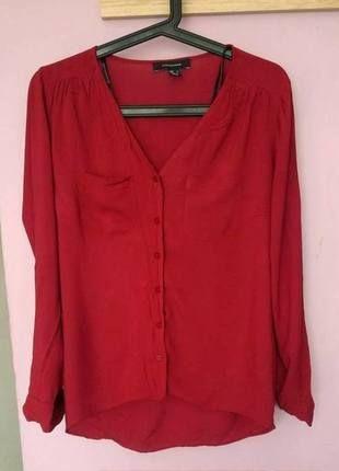 Kup mój przedmiot na #vintedpl http://www.vinted.pl/damska-odziez/koszule/13795468-bordowa-koszula-atmosphere-36-38-kieszonka-mgielka