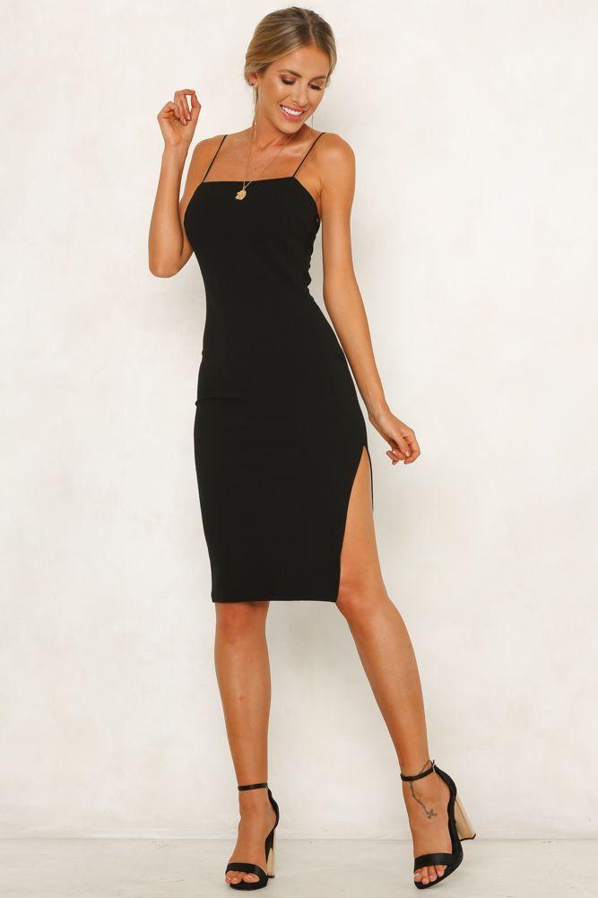 7745b69d3d Tight Rope Midi Dress Black