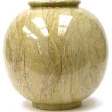 Nature Home Decor Sahara Beige Marble Vase