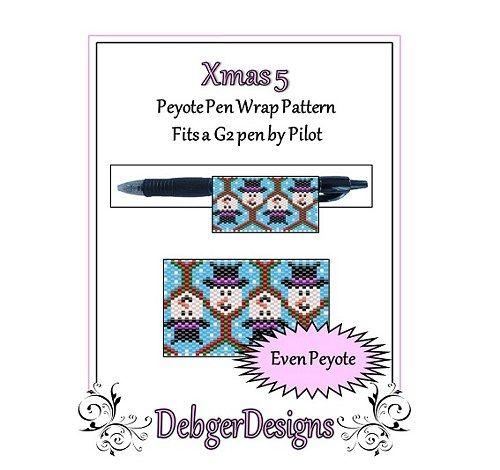 Bead Pattern Peyote(Pen Wrap/Cover)-Xmas 5