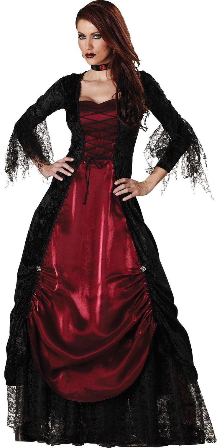 Vampira Gothic Adult Large Halloween fancy dress, Gothic
