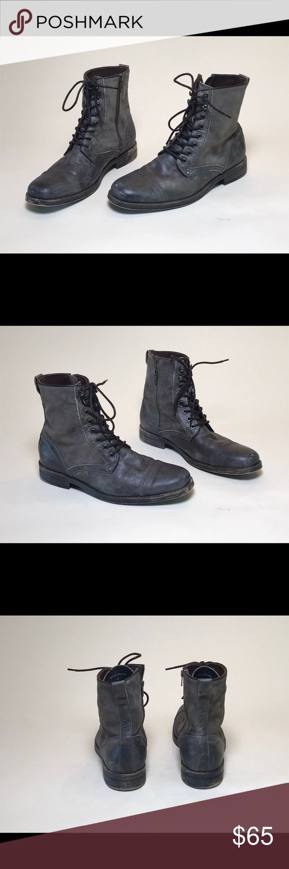 "Men's Aston Grey ""Bowers"" Grey Cap Tow Boot US 11 Men's Aston Grey ""Bowers"" Grey Cap Tow Boot US 11 Aston Grey Shoes Boots"