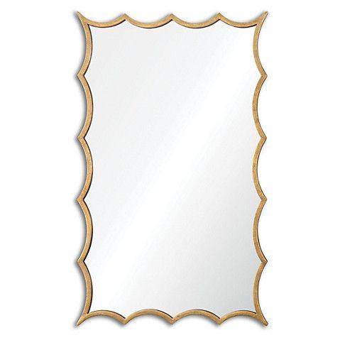 Midcentury Mirror, Gold $309.00