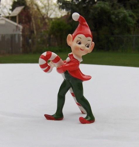lefton christmas village figurines on ebay