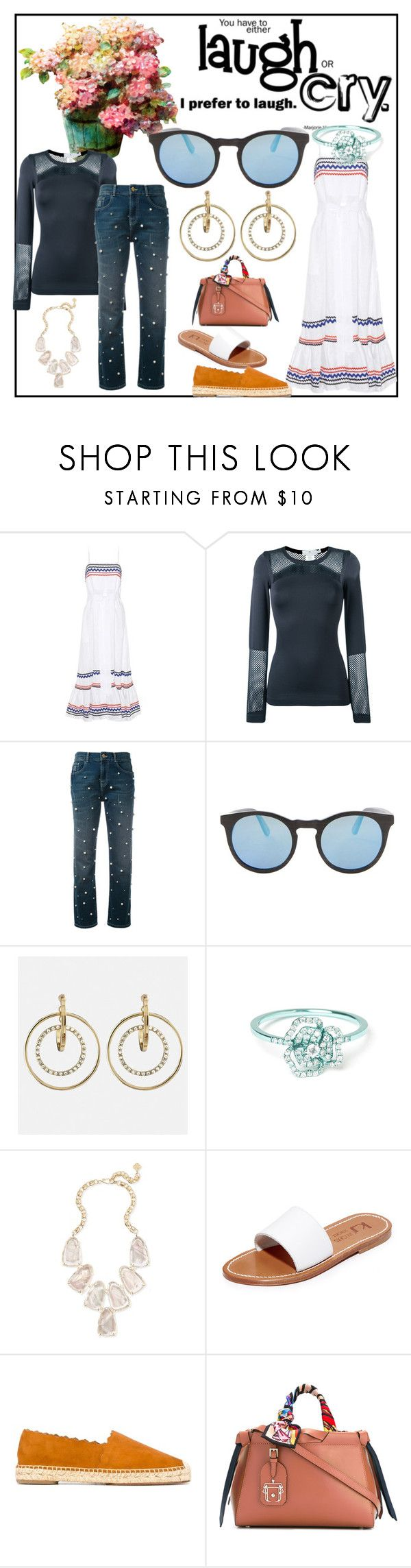 """Fashion is fad but style is eternal"" by denisee-denisee ❤ liked on Polyvore featuring Lisa Marie Fernandez, adidas, Essentiel, Avenue, AS29, Kendra Scott, K. Jacques and Paula Cademartori"