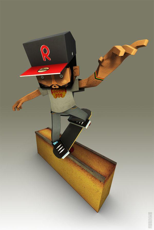 Skateboard Box by Robson Santana da Silva, via Behance