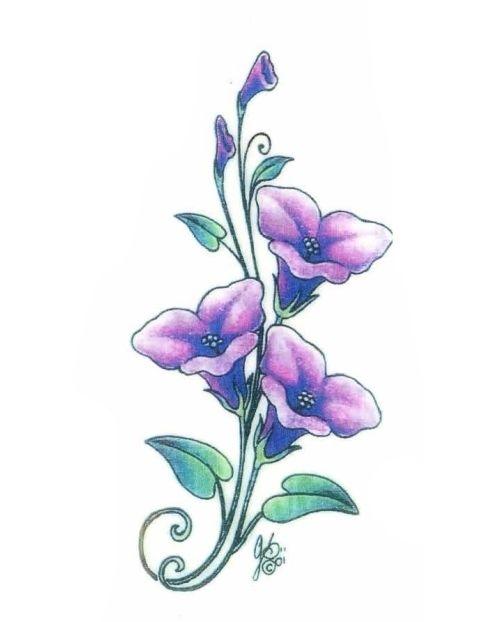 Violet Flower Tattoo Designs: 16 Best Violet Flower Tattoos Images On Pinterest