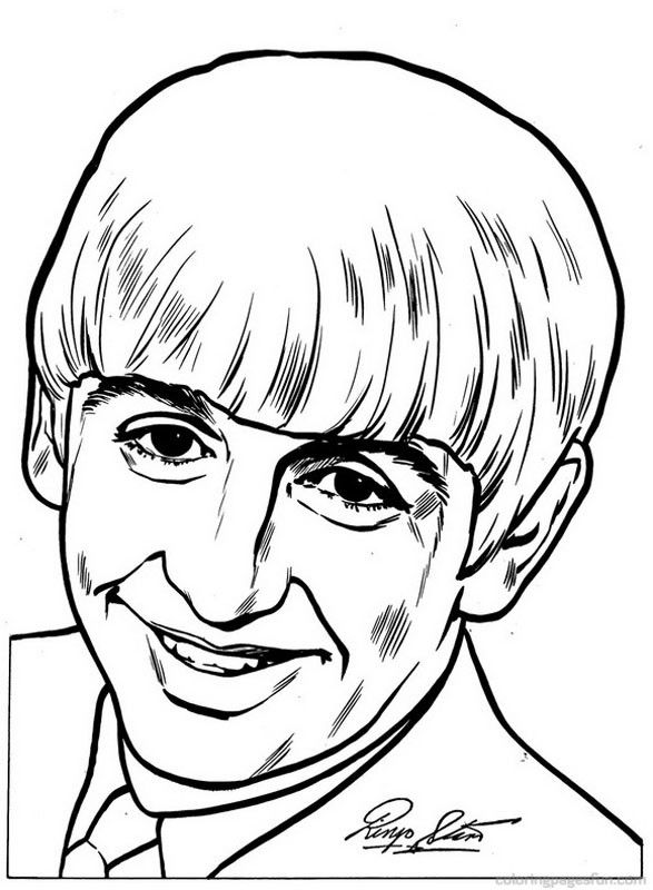 Beatles Coloring Pages 11 | Color: Retro | The beatles ...