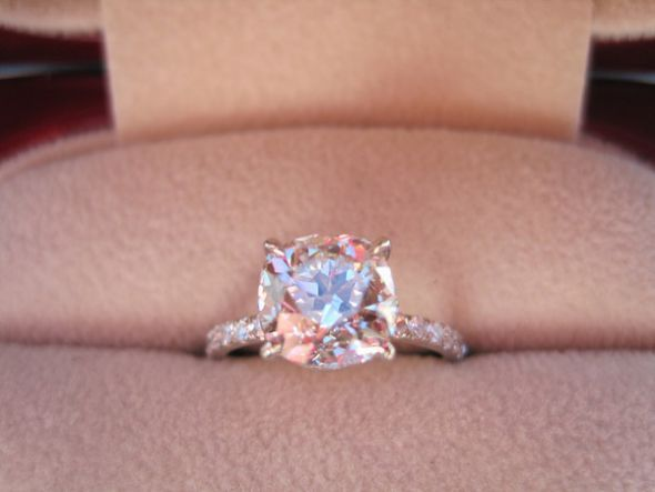 simplicity is beauty!: Cushions Cut, Colors Diamonds, Future Husband, Diamonds Rings, Wedding Rings, Dreams Rings, Pink Diamonds, Engagement Rings, Rose Gold