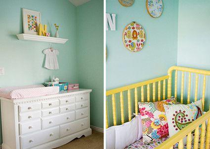 Mint green bebes nursery