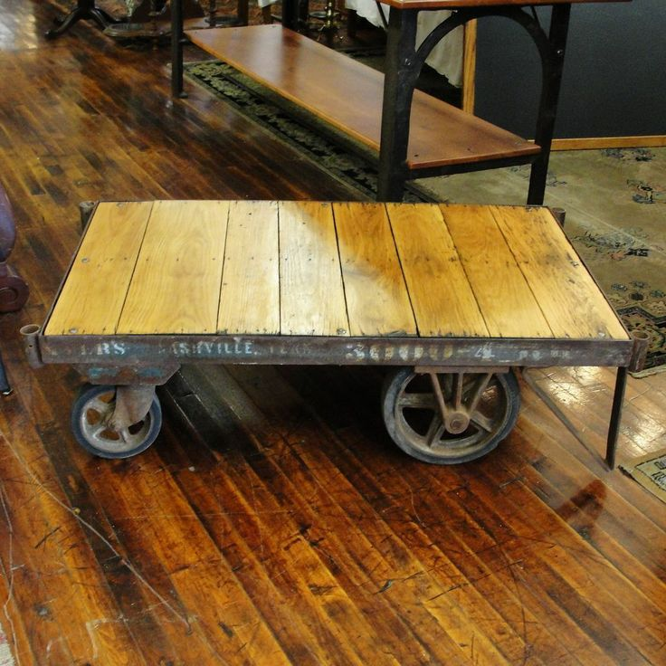 Industrial Coffee Table Factory Railroad Cart Nashville