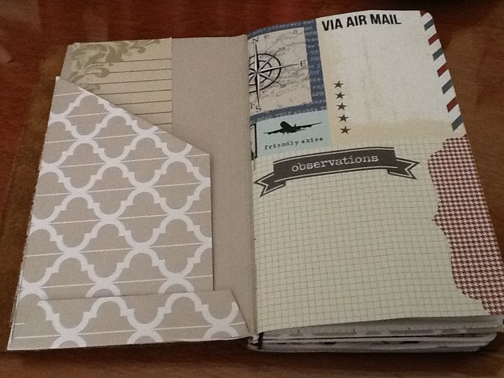 Insert craft file and lined notebook home made for traveler's notebook.