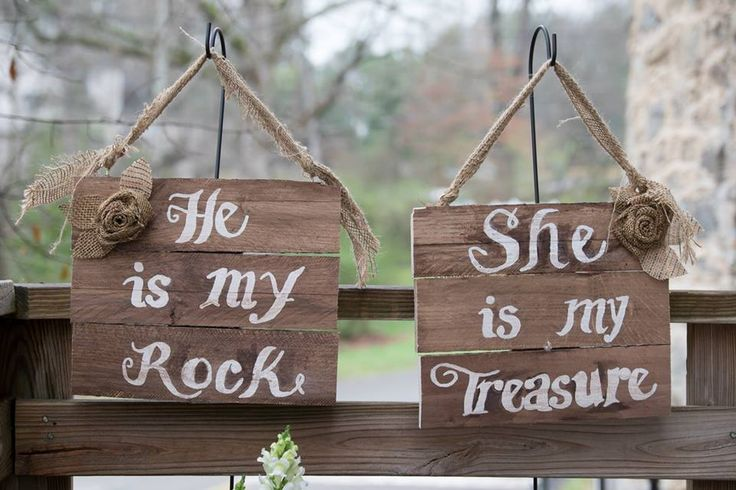 Geode Wedding Signs - He is My Rock, She is My Treasure | Sam Spencer Imaging