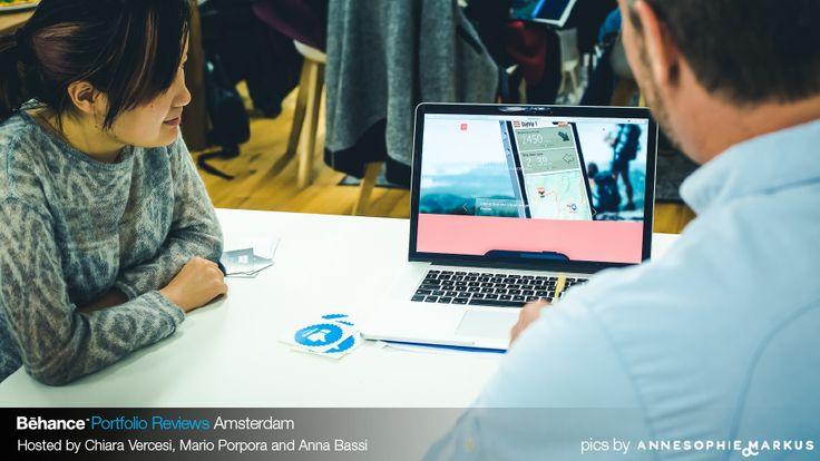 #MartinBoerma reviewing portfolios at #BehanceReviews Amsterdam