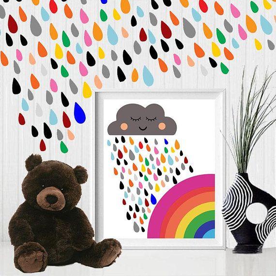 Rainbow colorful rainbow rainbow wall decor cloud