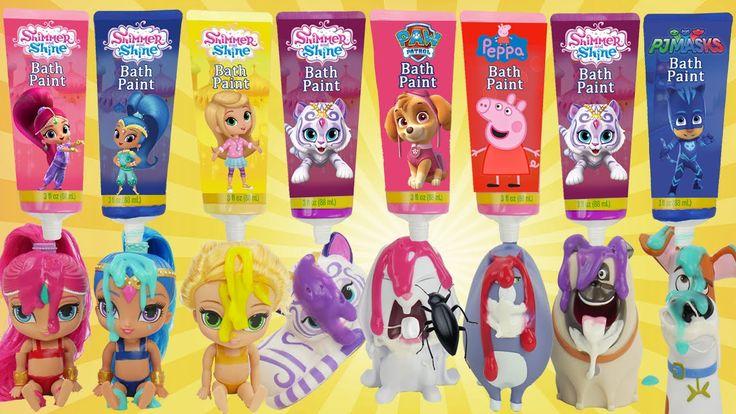 Learn Colors Shimmer and Shine Secret Life of Pets, Paw Patrol, PJ Masks...