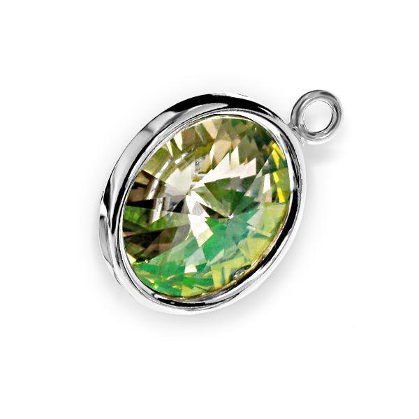 Pandantiv cu baza din argint 925, model cu bordură și cristal Swarovski Rivoli! Intră pe simoshop.ro și vezi mai multe! #argint #swarovski #simoshop