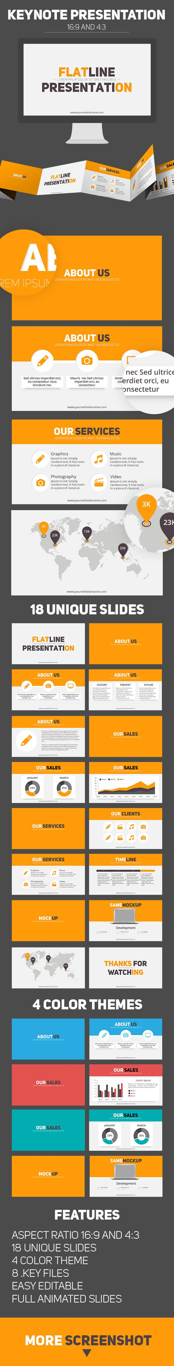 Flat line keynote business presentation Design Tempalte #slides Download: http://graphicriver.net/item/flat-line-keynote-business-presentation/12996694?ref=ksioks