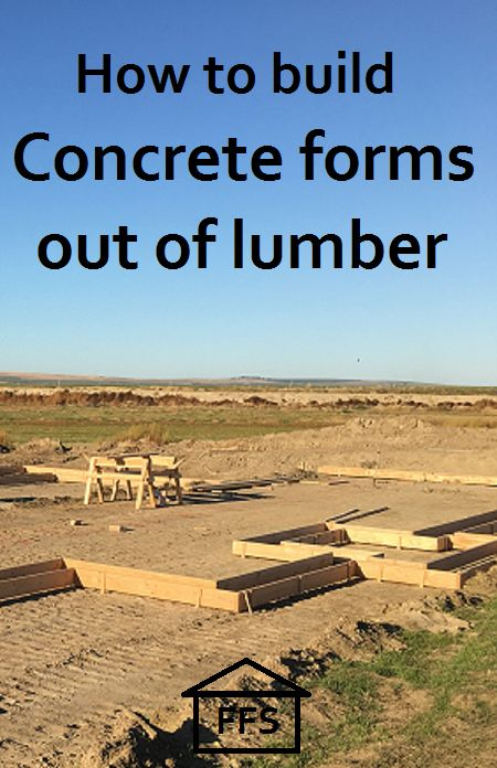 How to build your own cement forms out of lumber. Build your own house