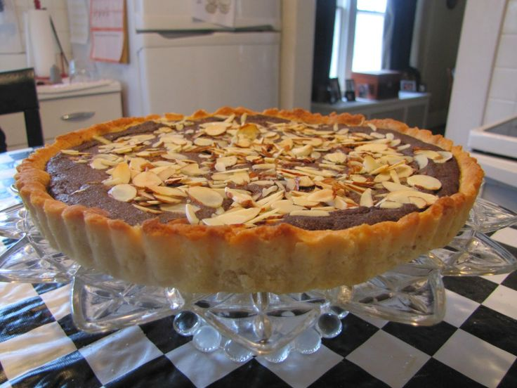 Almond & Chocolate Tart ~ Faithfulness Farm