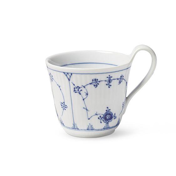 Royal Copenhagen Blue Fluted Plain High handle mug 33 cl