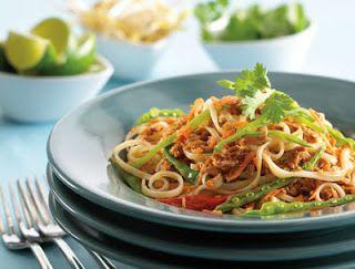 Spicy Tuna Pad Thai - using canned tuna!