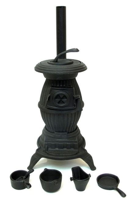 Old Mountain Cast Iron Stove Pot Bellied