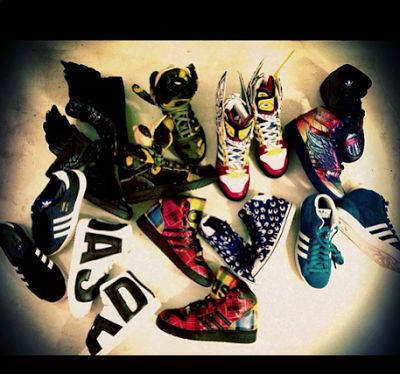 CL's Shoe Fetish. Spring release 2013 Jeremy Scott Adidas
