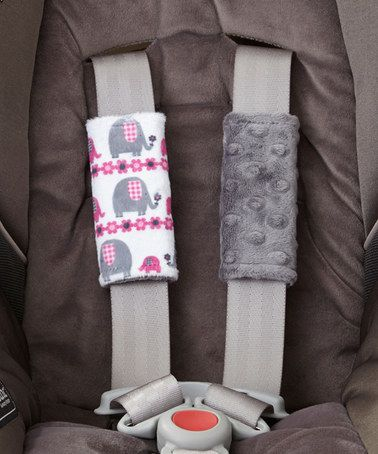 Love this Charcoal Marching Elephant Minky Car Seat Strap Cover Set on #zulily! #zulilyfinds