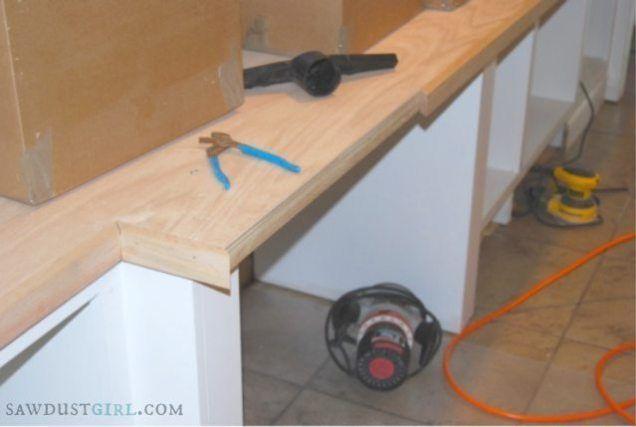 Oak Plywood Countertops Cara S Office 6 Oak Plywood Countertops Remodeling Mobile Homes