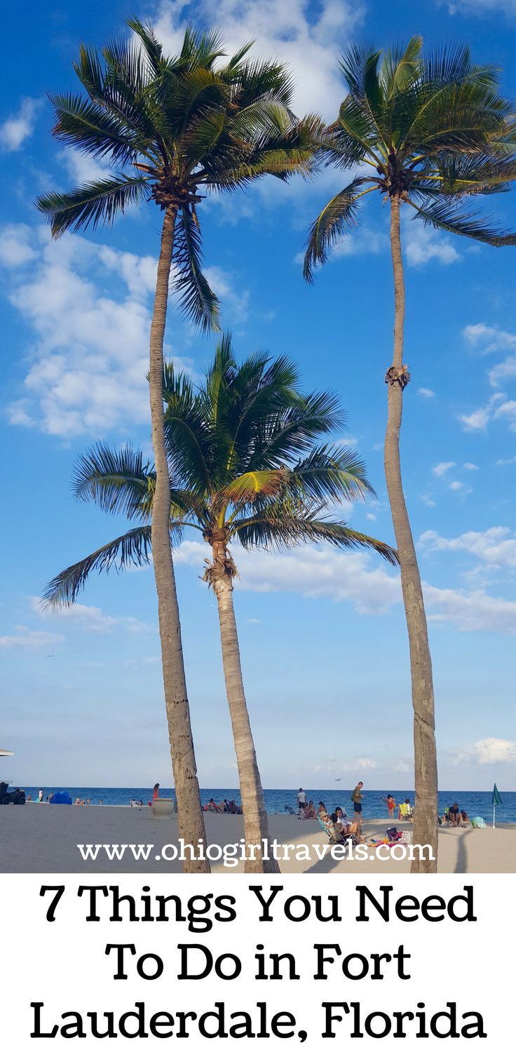 There are so many things to do in Greater Fort Lauderdale, Florida! Check out these 7 things you have to do while you're in Florida. Don't forget to save these things to do in Greater Fort Lauderdale, Florida to your travel board!