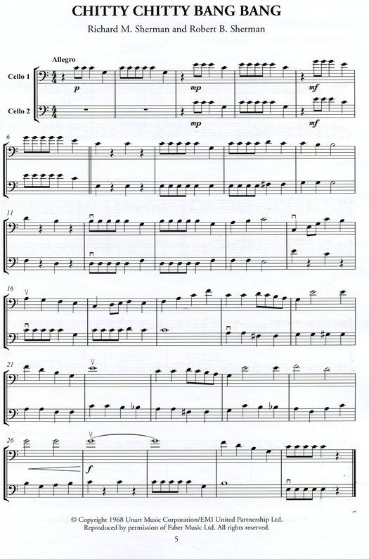 cello easy film cello sheet music - Google Search