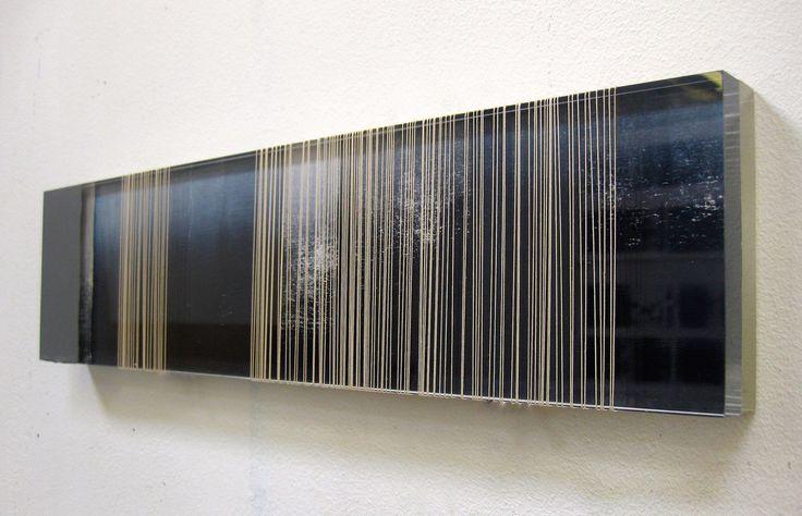 Anna Morris, 'Under', acrylic, oiled paper, thread, floor paint, 2015