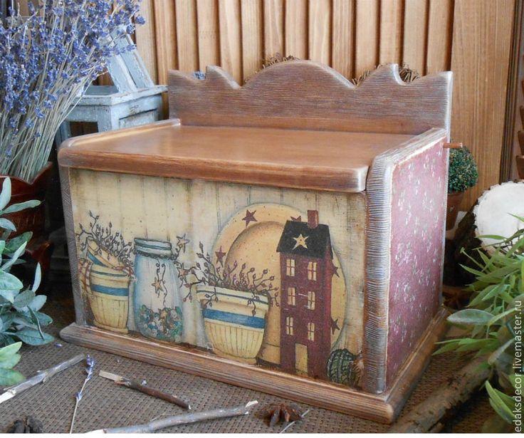 """Купить Хлебница из сосны """"Дом в стиле кантри"""" - короб для хлеба, хлебница из…"""