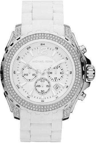 Michael Kors Women's White Silicone Drake Chronograph Watch - MK5621 Michael Kors. $268.00. Women's Watch. White