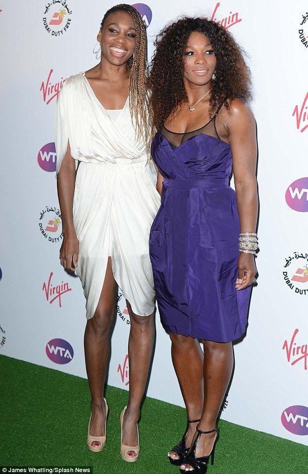 Venus Williams wearing Amanda Wakeley & Serena Williams in Burberry at the WTA Pre-Wimbledon party