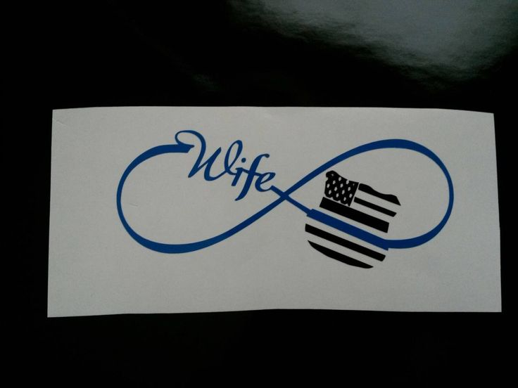I love this! My husband got me this for my yeti cup!   Customized infinity wife police badge Thin Blue Line Decal badge, American flag police wife badge, yeti decal, yeti tumbler decal,sticker by TsVinylDesignz on Etsy https://www.etsy.com/listing/267447682/customized-infinity-wife-police-badge