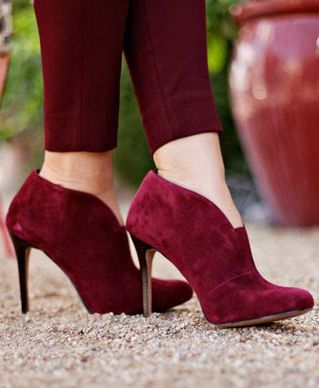 Burgundy Ankle Boots ♡