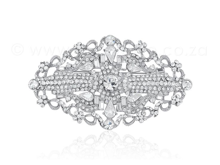 PURE WHITE - Vintage-Style Rhinestone Brooch 1-008, $68.50 (http://www.purewhite.co.za/vintage-style-rhinestone-brooch/)