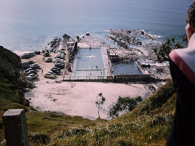 1960s Gold Coast pools before or was it after the Large Aquarium that was there in my youth?  Point Danger on the border of Qld & N.,S.,W.