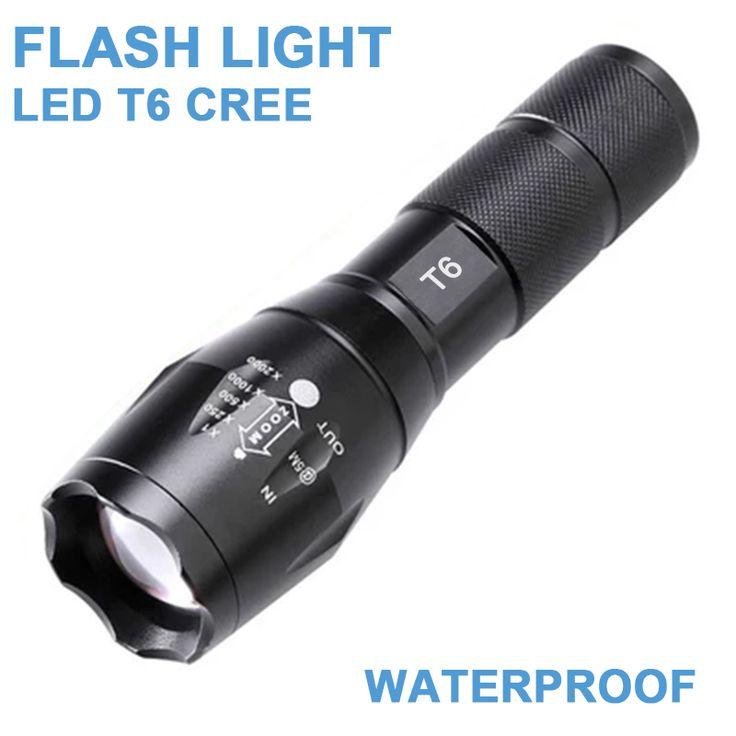 LED T6 Blitzlicht Einstellbare Zoom Blitzlicht Taschenlampe Cree 2800 Lumen Wasserdicht 3 XAAA Oder Wiederaufladbare 18650 Batterie