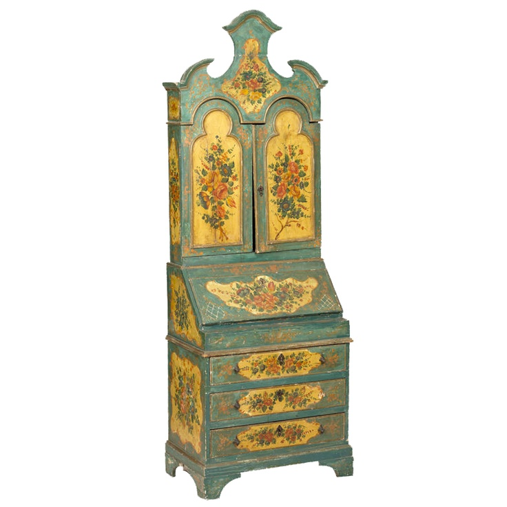 View This Item And Discover Similar Secretaires For Sale At   An Attractive  Painted Venetian Secretary Cabinet Made In The With The Intention That It  Would ...