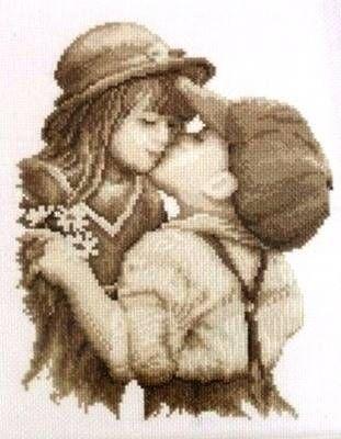 Набор для вышивания Vervaco PN-0011873(70175-2002) Первый поцелуй