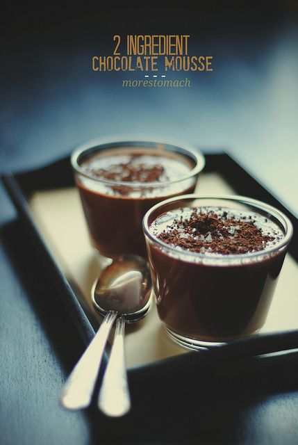 2 ingredient chocolate mousse by Lan | MoreStomachBlog, via Flickr