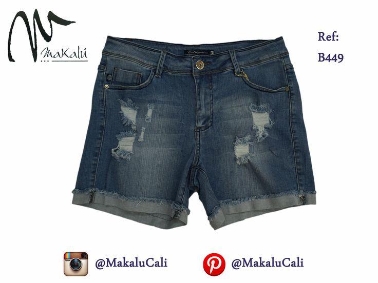 Pantalon Corto para Mujer en Jean, Muchas opciones como esta disponible en nuestras tiendas makalu en cali.  #Shorts #indigo #makalucali #centrocomercialBahia #CentroComercialEltesoro #RopaAmericana #Cali #Colombia #ModaFemenina #tendencias #tiendasMakalu