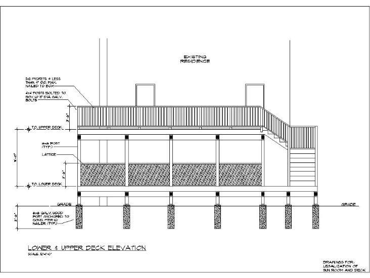 Wood Deck Construction Details Deck Pinterest Deck
