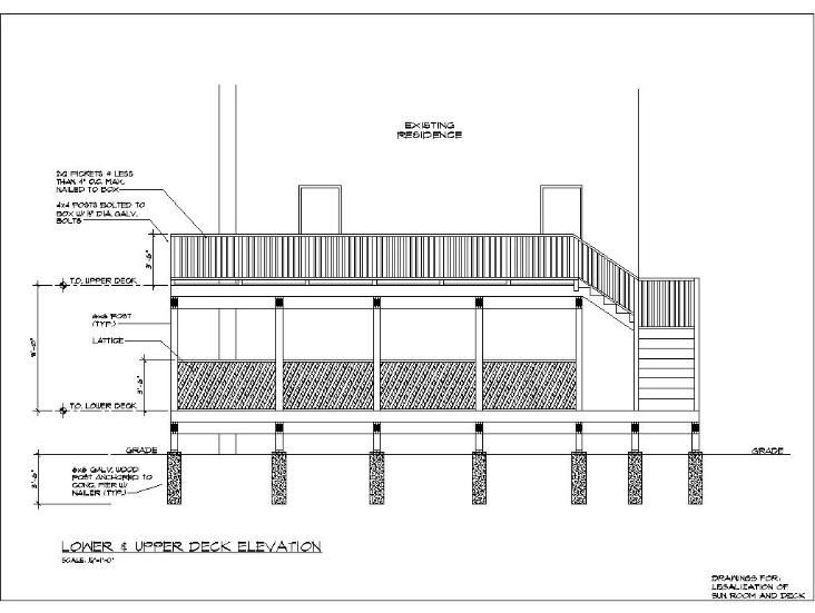 Wood deck construction details deck pinterest decks for Ground level deck plans pdf